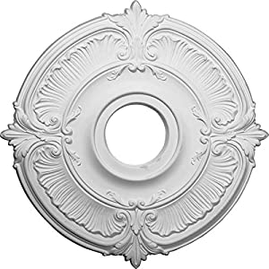 Ekena Millwork CM18AT Attica Ceiling Medallion, 18″OD x 4″ID x 5/8″P (Fits Canopies up to 5″), Factory Primed