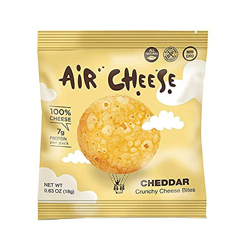 Air Cheese Cheddar Puffs   High Protein Protein   All Natural   100% Real Cheese   Healthy Snack   Keto Friendly   Gluten Free   12 Pack For Sale