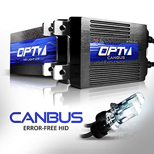 OPT7 Boltzen AC CANbus H4 9003 Bi-Xenon HID Kit - 5X Brighter - 6X Longer Life - All Bulb Sizes and Colors - 2 Yr Warranty [5000K Bright White ()