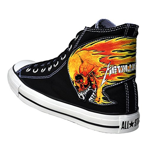 Converse Scarpe All Star Chucks Leather Uk 5,5 Eu 38 Metallica Limited Edition Black Skull Numero Dordine: 111116
