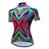 Shenshan MTB Bike Jersey Women's Pro Cycling Clothing Clothes Short Sleeve Bike T-Shirts Top Girls Wear Colorful pink Jackets Size M