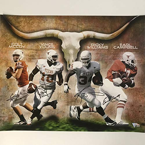 Autographed/Signed Texas Longhorns Heisman Trophy Winners 16x20 Football Photo Fanatics -