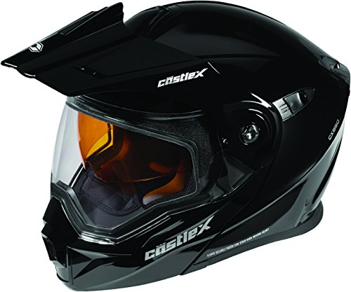 Castle X EXO-CX950 Modular Snowmobile Helmet Solid Black 2XL