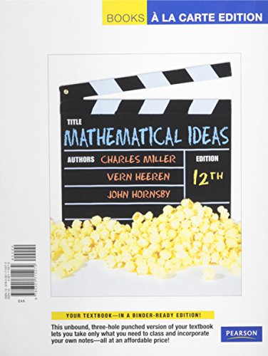 Mathematical Ideas, Books a la Carte Plus MML/MSL Student Access Code Card (for ad hoc valuepacks) (12th Edition)