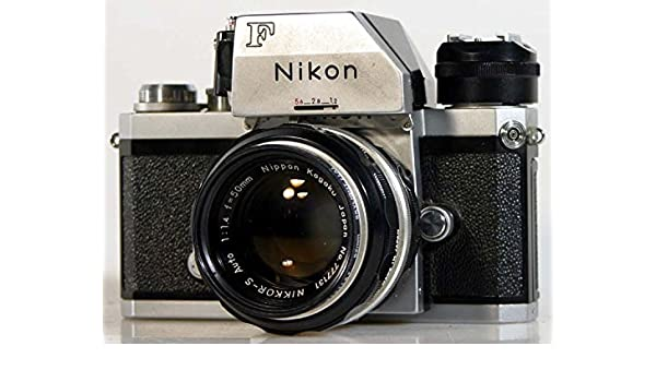 NIKON F BODY W// 50MM F//1.4 LENS AND AS1 ACCESSORY SHOE