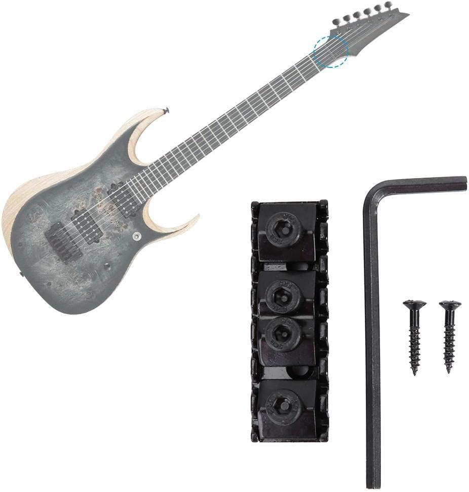 Electric Guitar Locking Nut Black Metal Bridge Locking Nuts for 7 String Electric Guitar Style Double Lock System