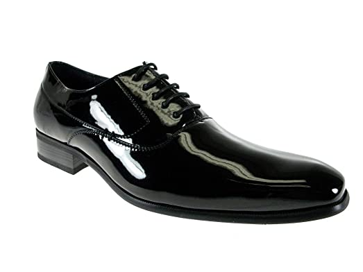 Delli Aldo Men's 19121 Black Sheen Formal Oxfords