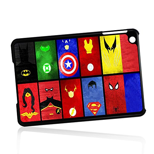 ( For iPad Mini 1/2/3, Generation 1 2 3) Phone Case Back Cover - HOT10874 Superhero Batman Spiderman Wonderwoman Superman HOT10874
