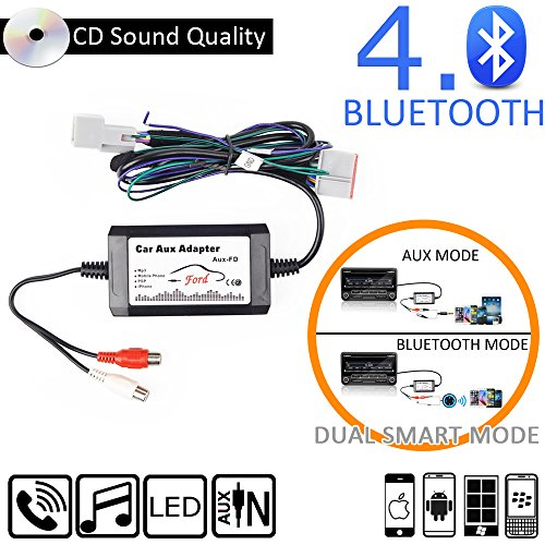 Appscar Bluetooth Car Kits Aux Adapter For Ford Edge Expedition Explorer F  F  Focus Freestyle Fusion Mustang Sport Trac