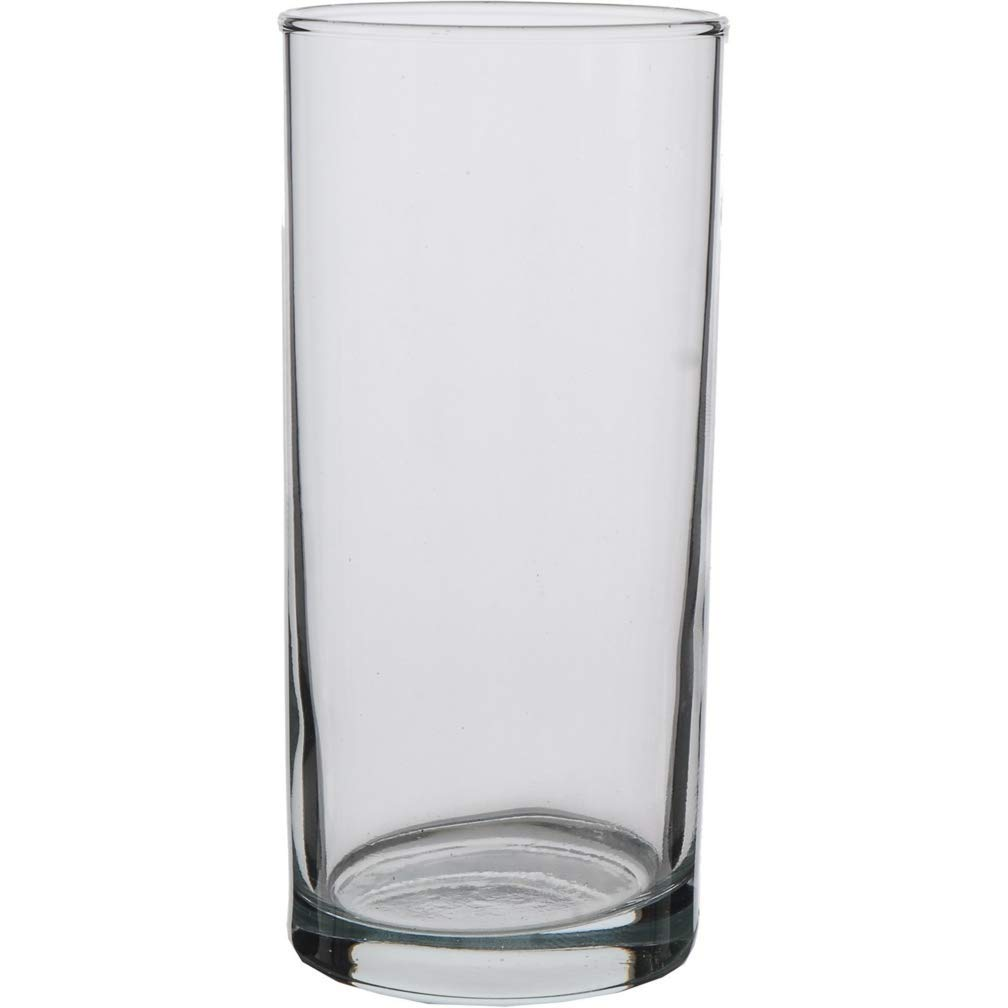 LAV Clear 10 Ounce Classic Highball Drinking Glasses | Liberty Collection - Thick and Durable - Heavy Base - Dishwasher Safe - For Water, Juice, Soda, or Cocktails - Set of 6 Clear Glass Tumblers by LAV Glassware