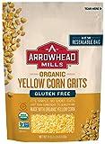 Arrowhead Mills Organic Gluten-Free Yellow Corn Grits, 24 oz. Bag (Pack of 6)