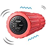 Ikeepi 4 Speed Vibrating Foam Roller Rechargeable Deep Tissue Massage For Trigger Point Release Muscle Massage Myofascial Release Alleviates Workout Pain, Cellulite, Lactic Acid with Free Storage Bag