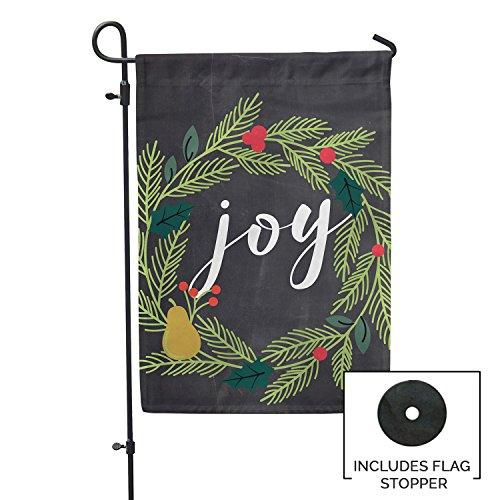 Second East Joy Wreath Chalkboard Flag Outdoor Patio Seasona