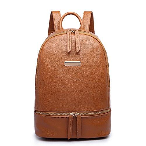 Backpack Miss 6606 Rucksack Pu Bag Shoulder Ladies Lulu Fashion Tan Leather XT4Xgn