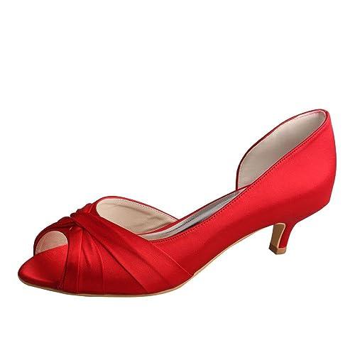 4a4f03b4851 Wedopus MW632 Womens D-Orsay Open Toe Low Heel Wedding Bridesmaid Pumps  Shoes
