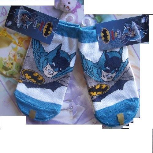 [10 Pair Bat-man Tube Socks Boys 6-8.5] (Batman Dress Socks)