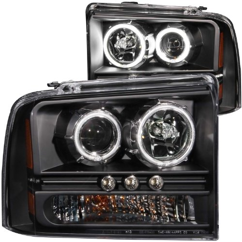 Anzo USA 111117 Ford Black Projectors with Halos Headlight Assembly - (Sold in (Anzo Usa Headlight Assembly)