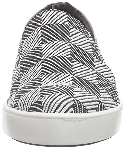 Pollini Damen Scarpad.beauty25 Domino Bianco-nero Slipper Mehrfarbig (10a White-black Domino Pvc)