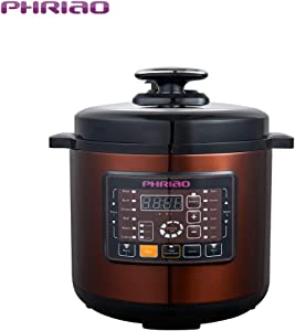 PHRIAO 20 Cup Cooked (10 cup uncooked) Digital Rice Cooker, Slow Cooker, Food Steamer