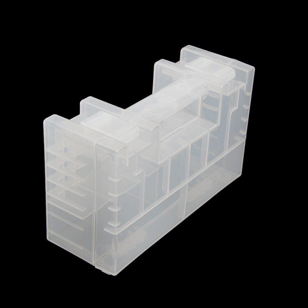 Ladaidra Battery Organizer and Storage Tidy Tool for Room Home Office Clear White