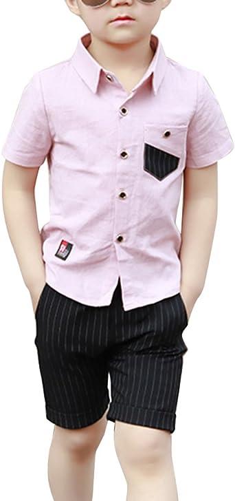 Niño Moda Camisa De Manga Corta Linda Y Pantalones Cortos Set de 2 Piezas: Amazon.es: Ropa y accesorios