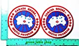 2 Pieces Canada Goose Arctic Program Patch Logo Sew Iron on Embroidered Appliques Badge Sign Costume Send Free Registration