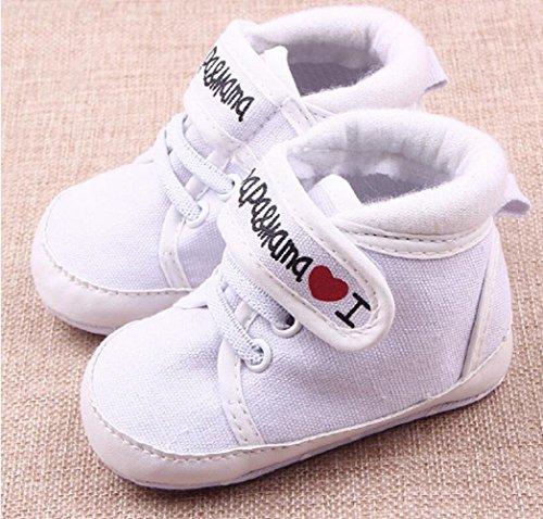 S8- Scarpine neonati I love mamma&papà tg.11 (0-6 mesi)
