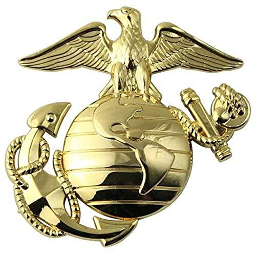 U.S. Marine Corps EGA Gold Metal Auto Emblem