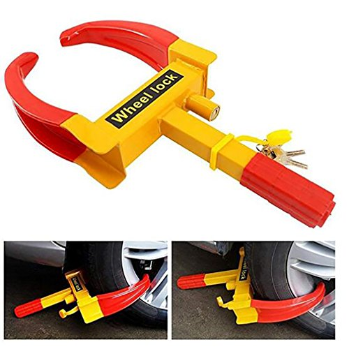 GM Car Tire Lock Portable Upgrade Heavy Duty Parking Anti-Theft Lock Car Truck Clip Tire Wheel Lock