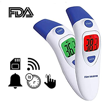 Hermano Digital Infrared Baby Forehead Thermometer with Ear Function Medical Non Contact Fever Body Basal Thermometers for Infant Kid Adult - CE FDA ...