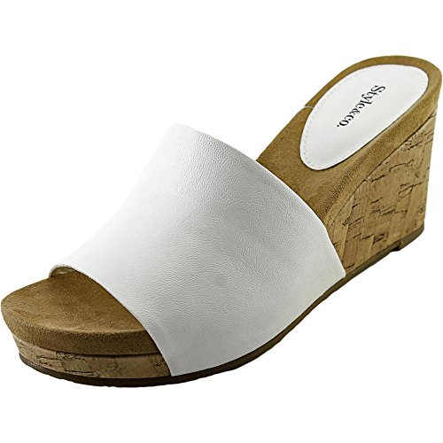 style and co white wedges - 6