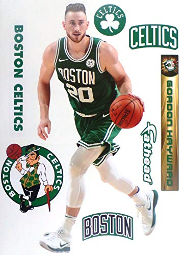 - FATHEAD Gordon Hayward Graphic + Boston Celtics Logo Set Official NBA Vinyl Wall Graphics 17