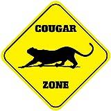 Fastasticdeals Cougar Crossing Funny Metal Aluminum Novelty Sign