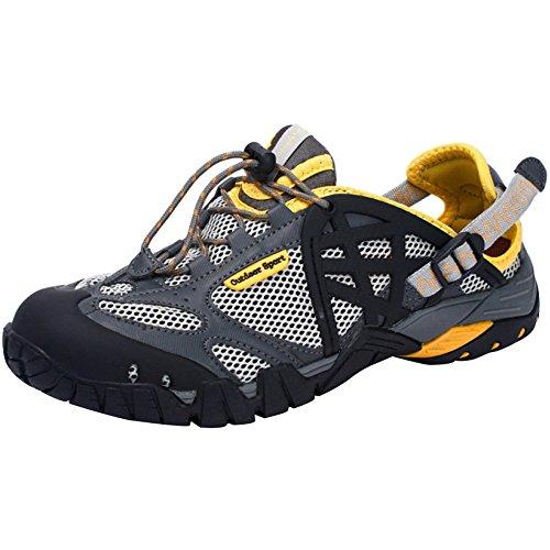 Anfibie Arrampicata Yellow Asciugatura Scarpe Aperta Da Leggere Ad Scarpe Escursione Sandali Neutri Sport Rapida Scarpe All'aria Da KUWOMINI 4UPq1pnw