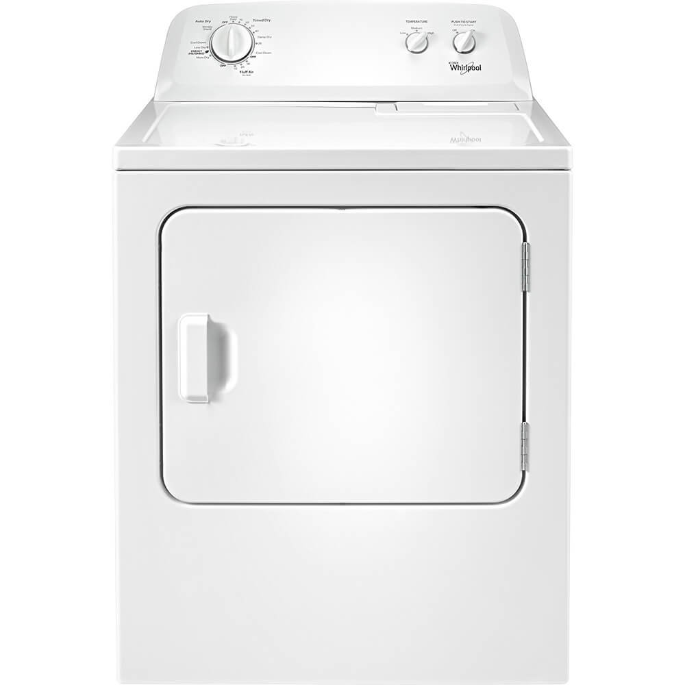 Whirlpool WED4616FW 7.0 Cu. Ft. Top Load Paired Dryer with the Wrinkle Shield Option by Whirlpool