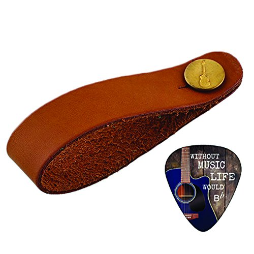 Creanoso Acoustic Guitar Strap Button Brown - Fits Above Nec