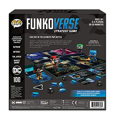 Funko Pop! - Funkoverse DC Comics Strategy Game Bundle of 2 - Base Game DC 100 and Expandalone DC 101: Toys & Games
