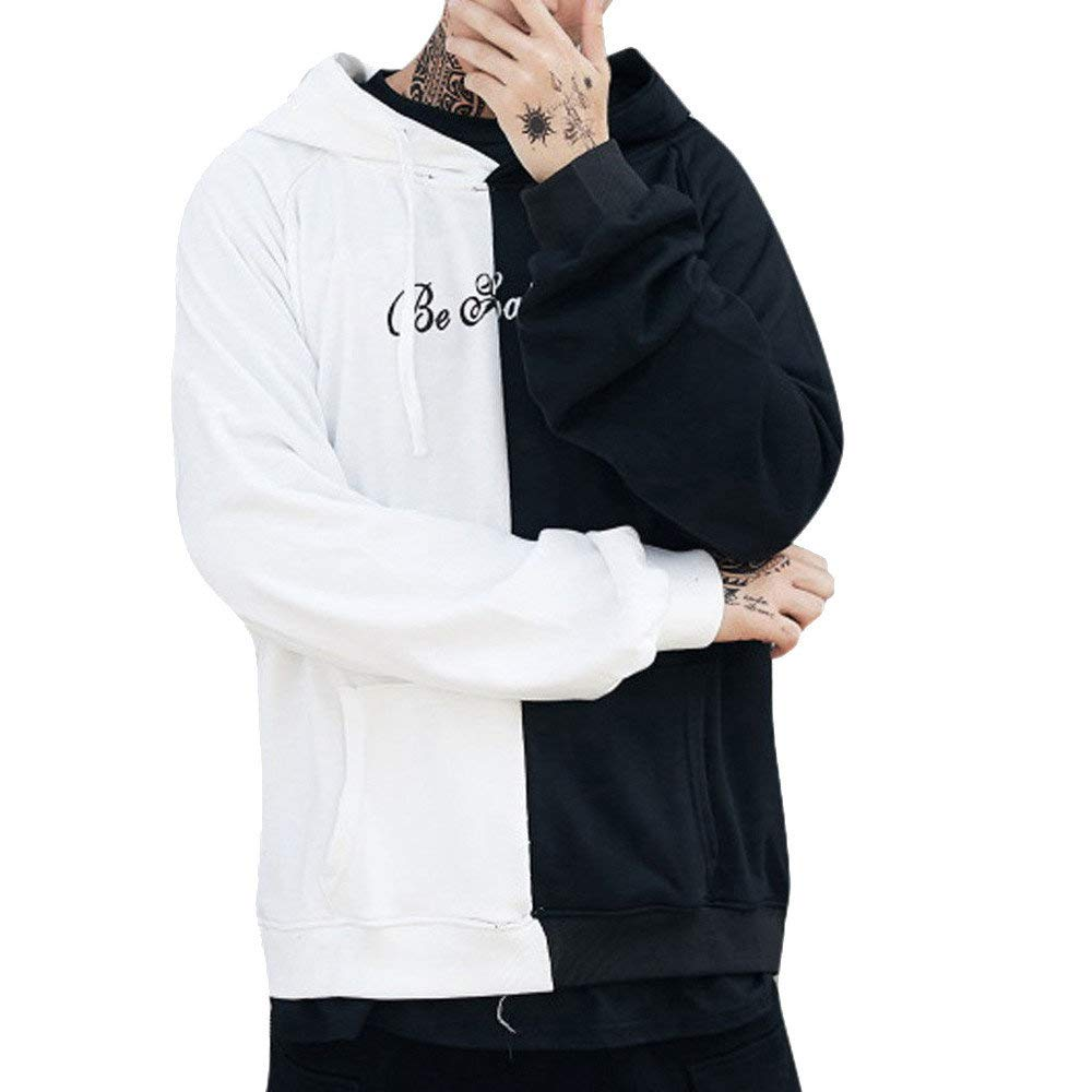 BaZhaHei Uomo Top,Felpa Uomo,Felpe Uomo Cappuccio Hoodie Sweatshirt Inverno Elegante Uomo Retro Felpa con Cappuccio Manica Lunga Felpa Giacche Giacca Outwear
