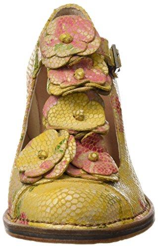 Neosens S868 Fantasy Floral Yellow Rococo, Sandalias con Tira a T para Mujer Amarillo (Floral Yellow)