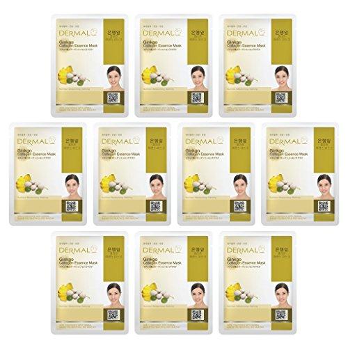 DERMAL Ginkgo Collagen Essence Full Face Facial Mask Sheet 2