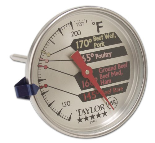 Thermometer Face Commercial 5 Dial Stainless Larg Taylor Star Steel Meat RvpqxxwP
