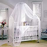 Fans Toddler Baby Nursery Bed Net Mosquito Net Crib Tent Canopy Netting Protector (White)