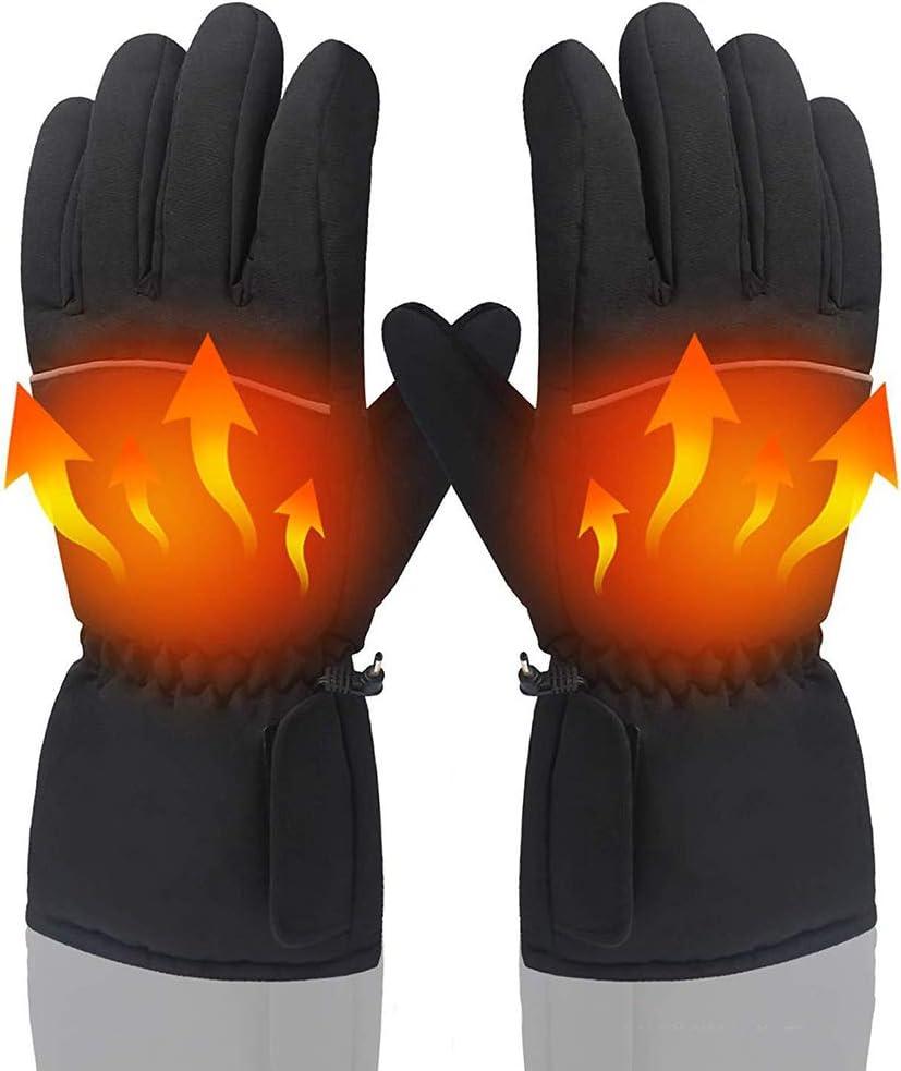 Ziziqw Elektrische Thermo G s, Beheizte Handschuhe,Hochwertiges Polyester, Die Maximale Temperatur Beträgt 50 ° C (Ohne Trockenbatterien)