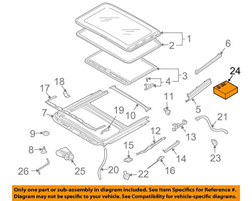 (Porsche OEM 08-10 Cayenne Sunroof-Seal Kit 95556402600)