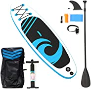 """HIJOFUN Stand Up Paddle Board Inflatable SUP Paddleboard 10'6"""" for Adult Begin"""