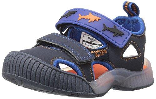 OshKosh B'Gosh Rapido Girl's and Boy's Bumptoe Sandal, Navy, 8 M US Toddler