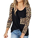 SMALLE ◕‿◕ Fashion in Women's Sweatshirt Leopard Printed Blouse Ladies Drop Shoulder T-Shirt Tops Shirt