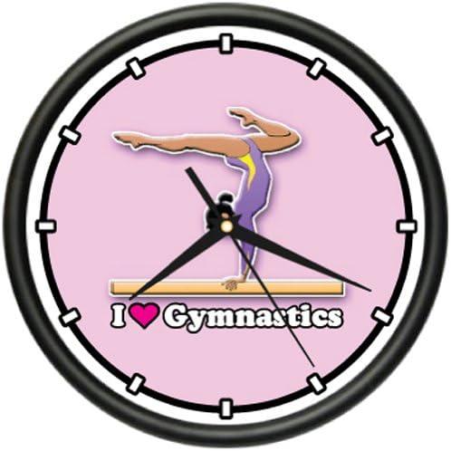 Gymnastics Wall Clock Gymnast Leotard Tights Gift