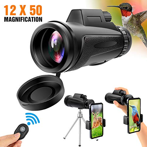 Best Prices! Yesker Monocular Telescope, 12x50 High Power HD Dual Focus Optics BAK4 Prism Waterproof...
