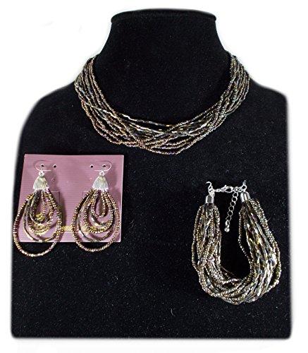 Premier Designs Chocolate Kiss Necklace, Bracelet, Earring Set